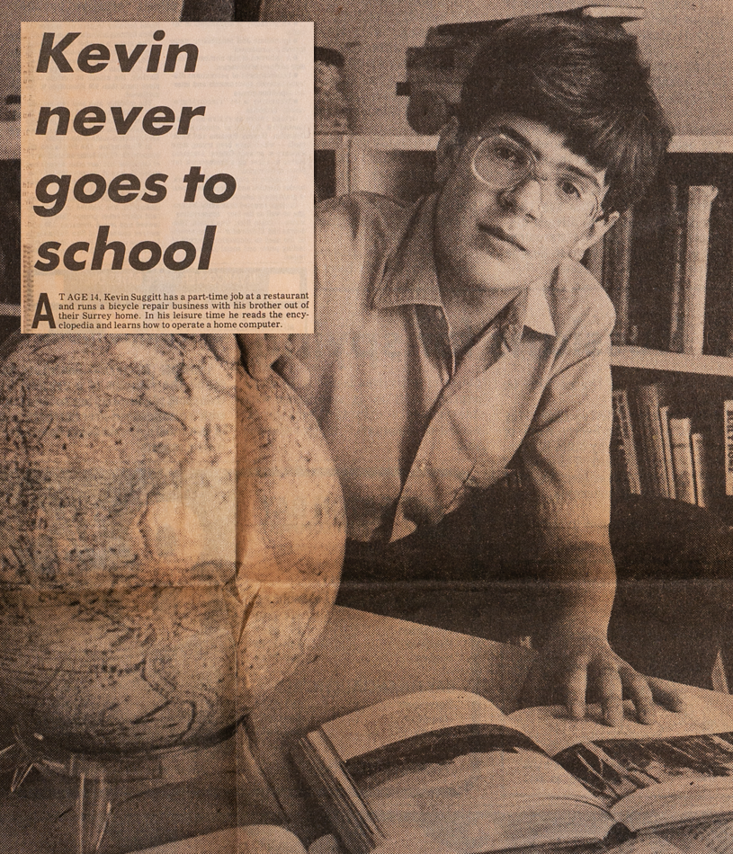 Kevin never goes to school newspaper article